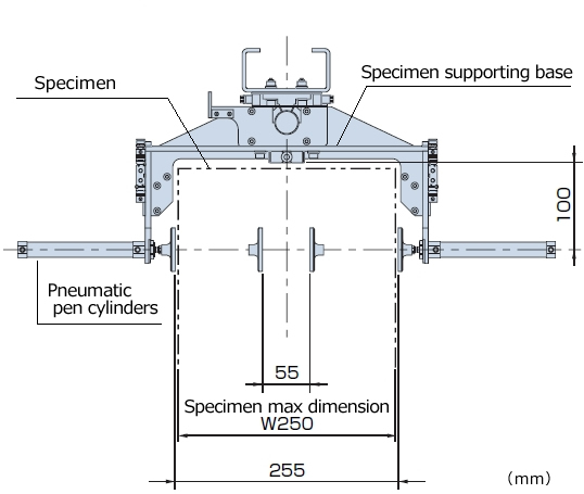 DT-202TB Detail drawing of supporting base